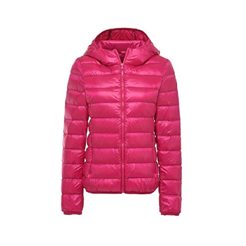 Howme Light Coat Hooded Red Puffer Ultra Winter Rose Fall Packable Outwear Women Down rqaw6r