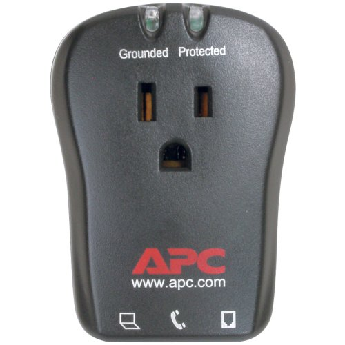 3 Pack 1-OUTLET TRAVEL SURGE PROTECTOR WITH TELEPHONE PROTECTION (Catalog Category: SURGE PROTECTORS/IUPS / POWER PROTECTION) from American Power