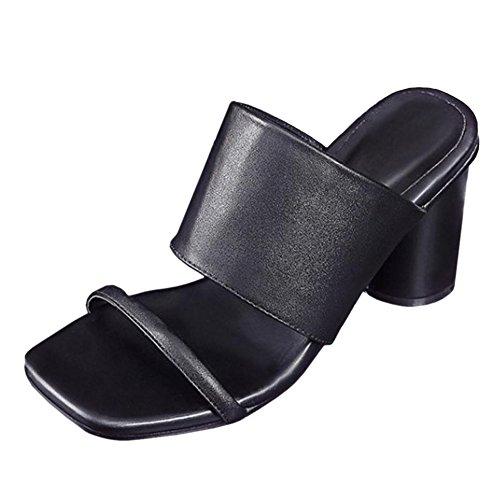 Coolcept Mujer Sin Cordones Mules Sandalias Black