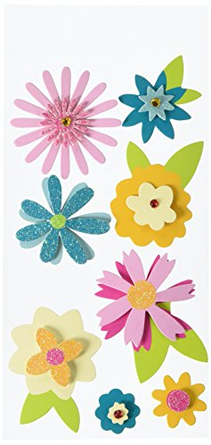 Dimensional Remarks Stickers (American Crafts Remarks Dimensional Sticker Sheet, Petals)