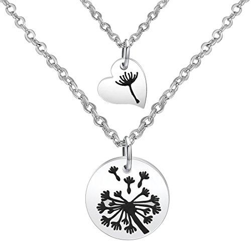 Zuo Bao Dandelion Mother Daughter Necklace Set