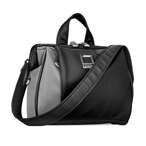 lencca-lenolivegryblk-olive-dslr-camera-case-shoulder-bag-with-removable-strap-grey-black