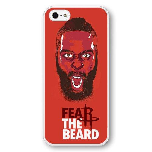 Onelee(TM) - Customized Personalized White Hard Plastic iPhone 5/5S Case, NBA Superstar Houston Rockets James Harden iPhone 5/5S Case, Only Fit iPhone 5/5S Case