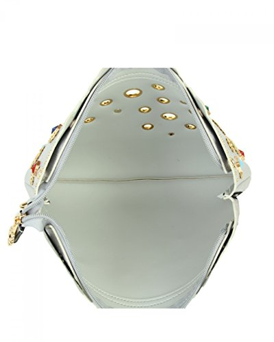 LeahWard Damen Soft Clutch Bag Schultergurt Hochzeitsgeldbeutel für Braut Prom Nacht heraus 014 (GOLD TASCHE) PERLE