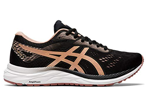 ASICS Women's Gel-Excite 6 Running Shoes, 7M, Performance Black/Dusty Steppe