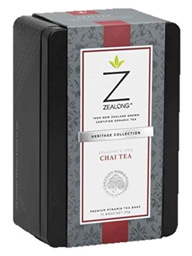 Premium Chai Spiced Organic Black Tea, All Real Spices, Organically Grown New Zealand Tea, Natural Biodegradable Tea Bags by Zealong