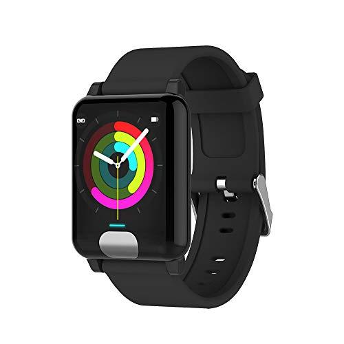 JDgoods Smart Fitness Bracelet,E04 ECG+PPG Smart Watch Wristband Band Bracelet Heart Rate Monitor Fitness Tracker (Black)