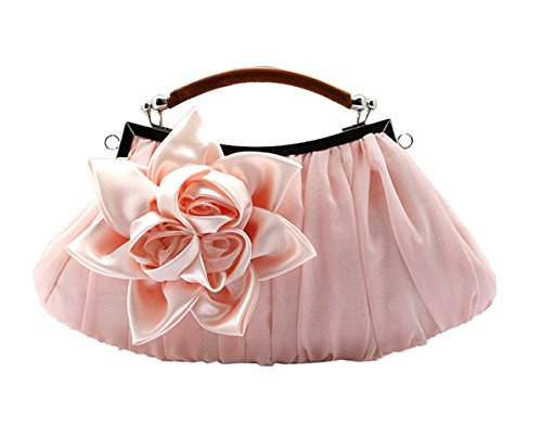 Aronvivi - Cartera de mano para mujer rose red(1) talla única pink(1)