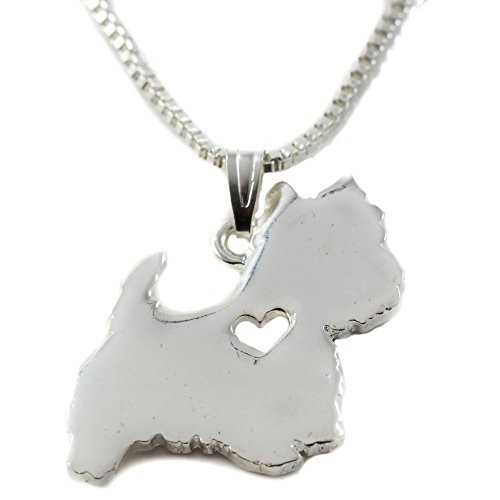 FTA Dog Pendant Necklace: Silver Pendant. West Highland Terrier Gifts (West Highland Terrier)