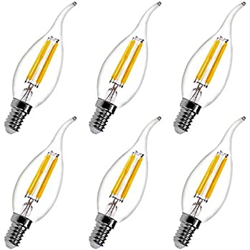 E12 4w Led Candelabra Edison Light Bulbs Dimmable 40w