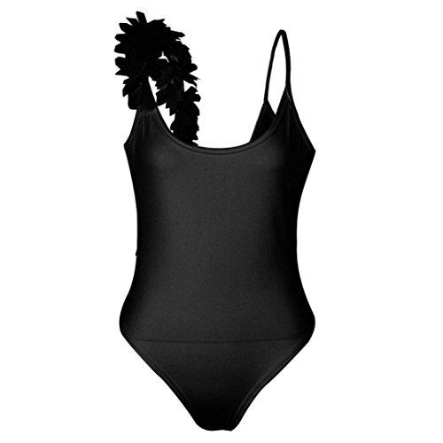 Bagno Imbottito Beachwear a l'alto Up Imbottito Reggiseno Pizzo verso Reggiseni Mutande Fascia Costume Qinsling in Floreale Spingere Balneare Push Nero Bikini Bikini Donna Da fqww8xpA5