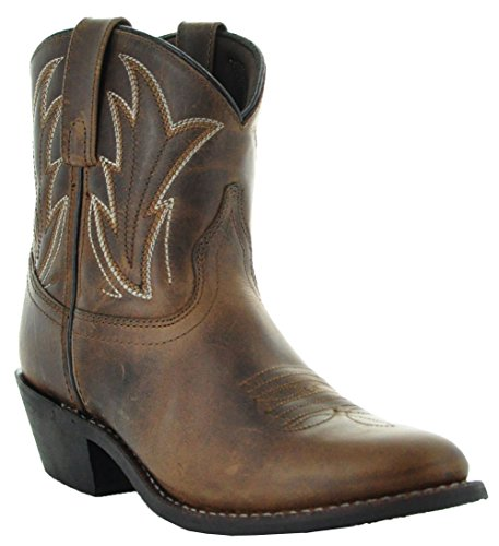 Soto Boots Janis Women's Ankle Cowboy Boots M3003 (6, Brown)