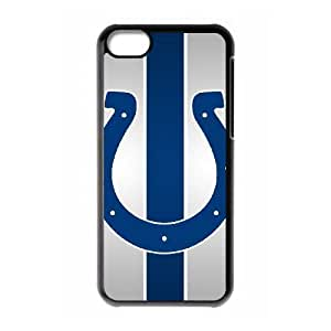 NFL iPhone 5c Black Cell Phone Case Indianapolis Colts PNXTWKHD0155 NFL Phone Case Cover Customized Unique