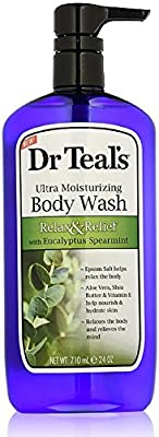 Dr Teal's Ultra Moisturizing Body Wash, Relax & Relief with Eucalyptus Spearmint 24 oz
