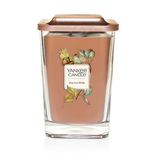 Yankee Candle Company Elevation Collection with Platform Lid, Large 2-Wick Square Candle   Harvest Walk