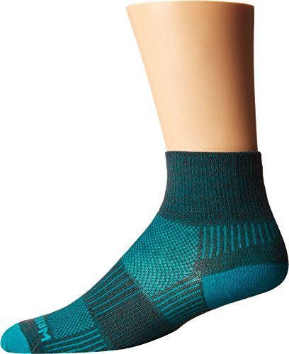 (Wrightsock Unisex Coolmesh II Quarter Ash/Turquoise Medium)