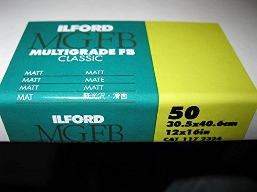 Multigrade FB Classic Matt Variable Contrast Paper (12 x 16'', 50 Sheets) by Ilford