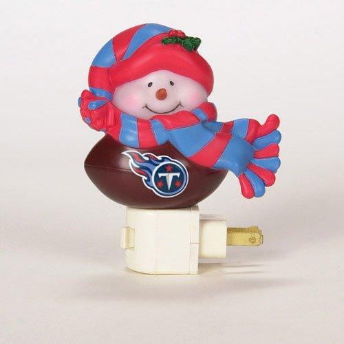 Tennessee Titans NFL Snowman Night Light - Tennessee Snowman