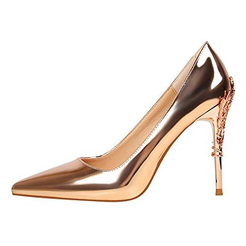 Xue Qiqi Tipp High Heels Mädchen wilde rote Hochzeit Schuhe schwarz Professional Light - einzelne Schuhe
