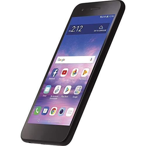Net10 Carrier-Locked LG Rebel 4 4G LTE Prepaid Smartphone - Black - 16GB - Sim Card Included - CDMA