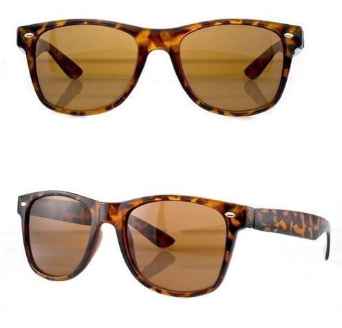 Verre retro vintage Teinte Lunettes Fashion Tortoise Wayfarer tendance 80'S PURECITY© de Caramel Monture style soleil Ecaille Original Produit 8wx0qOH