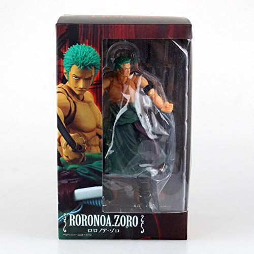 Deep Huble Anime One Piece Megahouse Variable Action Heroes Roronoa Zoro World Ver. PVC Action Figure Collection Model Toys Doll 18cm (Variable Action Heroes Roronoa Zoro Action Figure)
