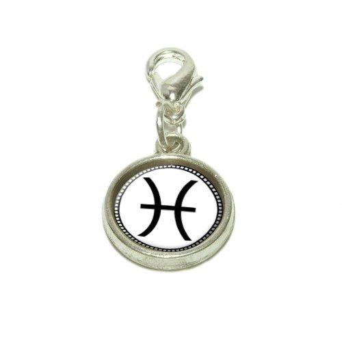 Zodiac Sign Pisces Dangling Bracelet Pendant (Italian Zodiac Sign Bracelet)
