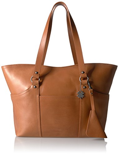 Lucky Corey Medium Tote, Natural Vachetta