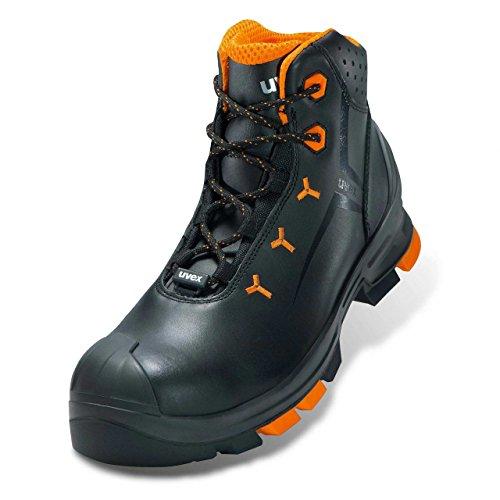 40 Black Uvex 6503240 Größe 1 2 Orange Negro Leather Par S3 Sicherheitsstiefel q1vTr1t