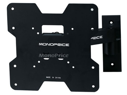 Monoprice Adjustable Tilting/Swiveling Wall Mount Bracket for LCD LED Plasma - Corner Friendly (Max 80Lbs, 24~37inch) (3 Pack)