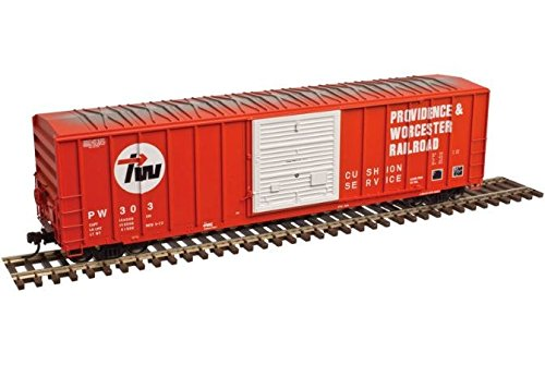 Atlas N Scale FMC 5077 50' Boxcar Providence Worcester/PW #323 (Red/White/Black)