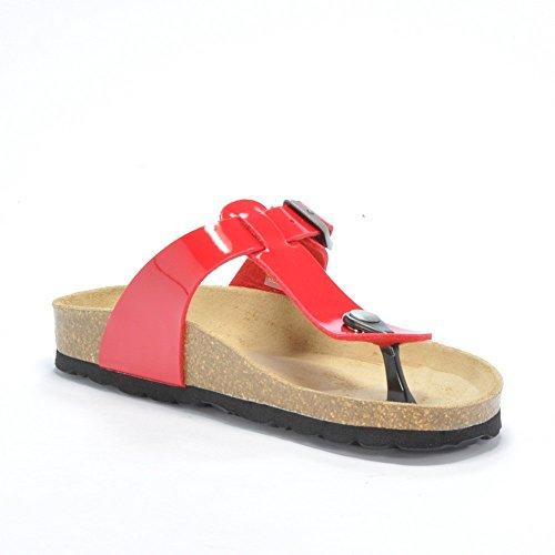 Walk Safari FEDORA MWC6060 - Zapatillas de deporte de cuero para niño Rosso