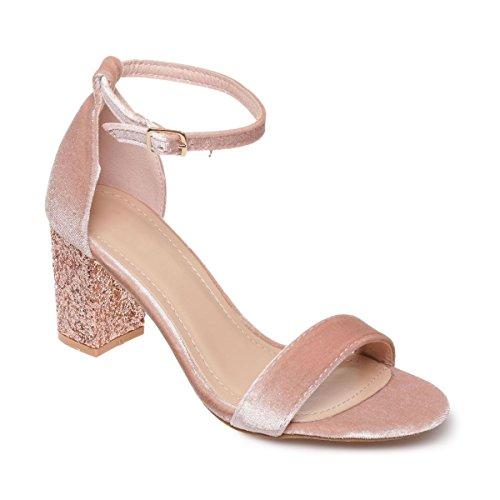 La Modeuse - Sandalias de vestir para mujer Rose