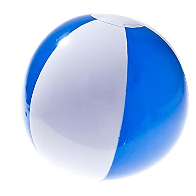 Blue and White Inflatable Beach Ball