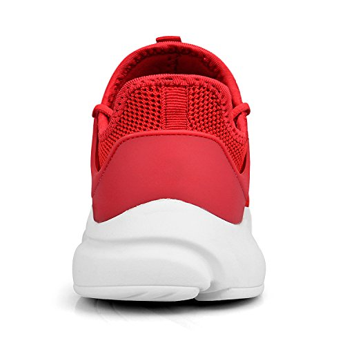 for Trainers Casual ZOCAVIA Walking Running White Sports Lightweight Athletic Women Girls Shoes Red BZfWnfFR