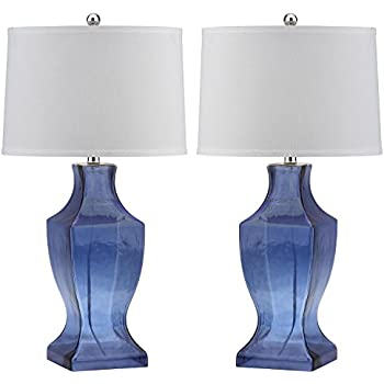 Amazon Com Safavieh Lighting Collection Glass Bottom Blue