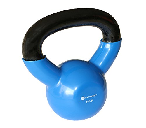 Kettlebell Fitness Iron Weights With Vinyl Coating Around The Bottom Half of The Metal Kettle Bell Exercise Body Equipment – DiZiSports Store
