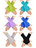 Bememo UV Protection Sleeves Gloves Wrist Length Sun Block Driving Sleeves Gloves Unisex Fingerless Sleeve (Color 3, Wrist Length)