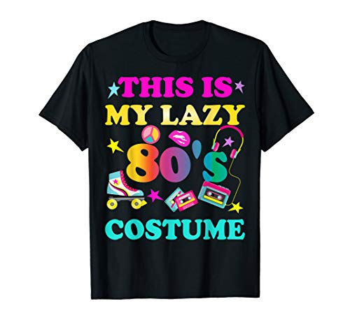 This is my lazy 80's costume T-shirt 80s Neon Halloween Gift ()