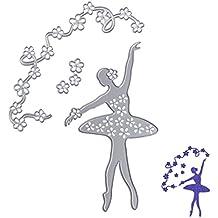 NNDA CO Ballet Shape Carbon Steel Cut Cutting Die Stencil DIY Scrapbook Album Craft Card,Silver,103x148mm,1Pc