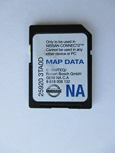 3TA0D NISSAN CONNECT SD CARD , NAVIGATION GPS MAP DATA , NAVTEQ , NA/NORTH AMERICA US CANADA 25920-3TA0D ,FOR 2013 SENTRA ALTIMA SEDAN XTERRA TITAN NV200 FRONTIER NV1500 NV2500 NV3500