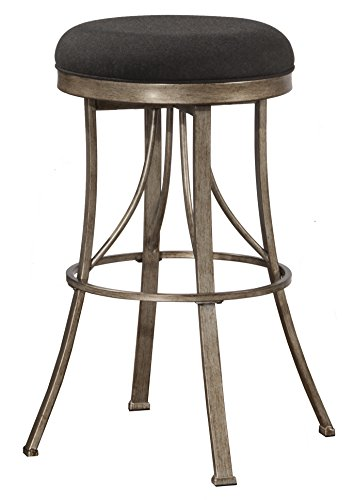 Hillsdale Furniture 6314-826 Indoor/Outdoor Bishop Backless Swivel Counter Stool, Gold (Hillsdale Bar Stool Round)