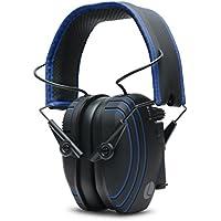 Lucid Audio AMPED Sound Amplifying Bluetooth Wireless Hearing Headphones - Black/Blue (Hearing protection, headphones, hearing enhancement, hearing amplifier, sound reduction, tv enhancement)