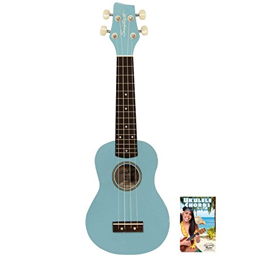 Sawtooth ST-UKE-BSDBL-KIT-1 Soprano Ukulele with Quick Start Guide Daphne Blue