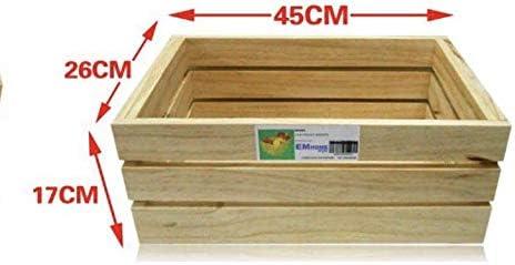 EM Home 1 Piezas Caja de Almacenamiento,Caja de Madera Fruta ...