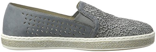 Rieker Women's M8555 Loafers Blue (Jeans/Adria / 14) clearance low price 2aCBel