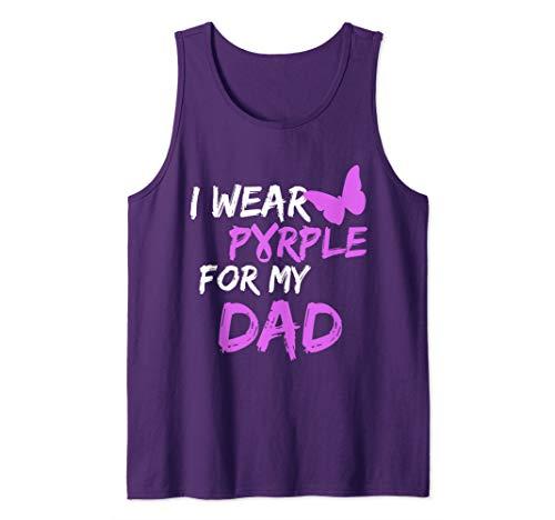 Butterfly Ribbon Womens Tank - I wear Purple for my Dad Butterfly & Ribbon Tank Top