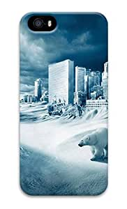 Stylish and Protective Case for iPhone 5/5s Cases - Modern Ice Age Custom Design iPhone 5S/5 Hard Case Cover - Polycarbonate