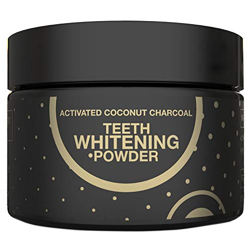 Charcoal Teeth Whitening Natural Activated Coconut Charcoal Powder, Teeth Whitener Remove Coffee Cigarette Wine Stains, Non Abrasive Safe for Enamel Whitening Teeth 2.11 oz