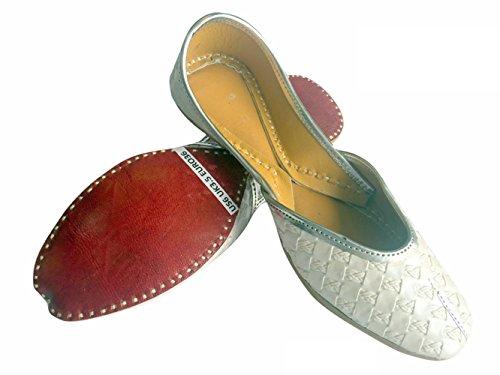 Step n Style mujeres plano Khussa Zapatos Punjabi jutti Plain tradicional mojari bombas de ballet